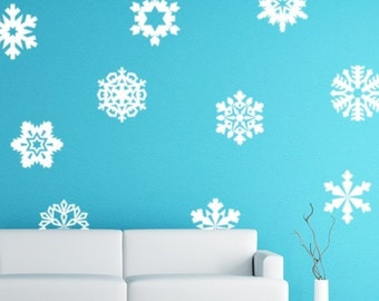 popular items for snowflake decal on etsy. Black Bedroom Furniture Sets. Home Design Ideas