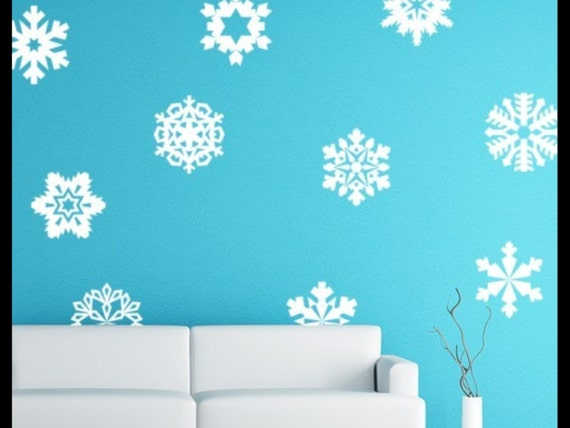 Vinyl Decal Wall Art Snowflakes Decal Stickers Holiday Decals