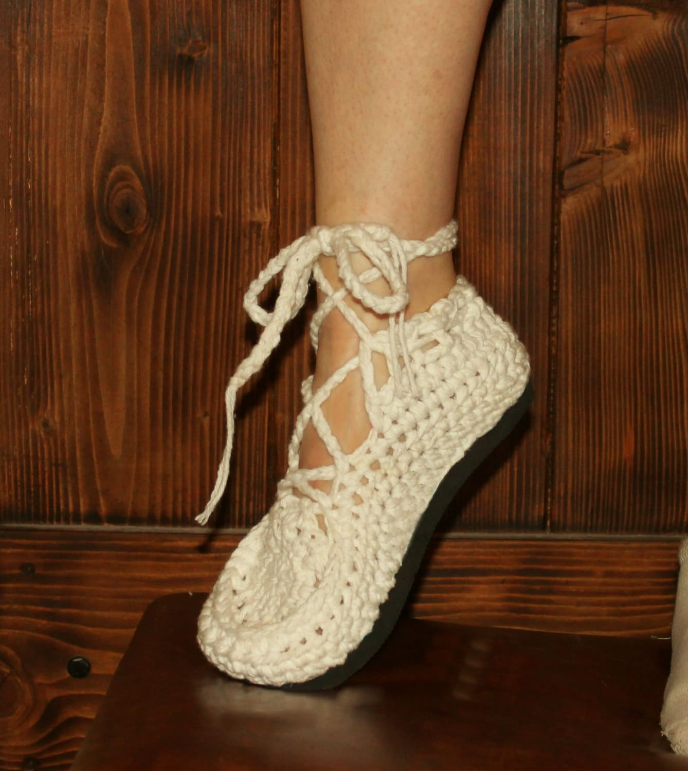 Crochet Sandals Pattern Medallion Lace Up