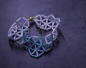 Mint green milk white bead geometric bracelet