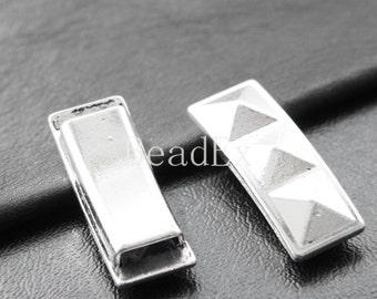 4pcs / Spacer / Oxidized Silver Tone / Base Metal (YA15527//E100)