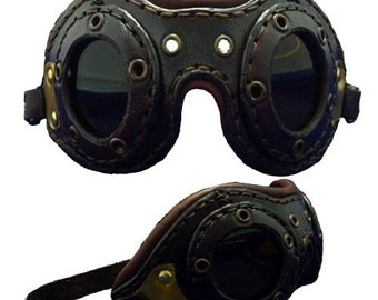 Leather Aviator Goggles