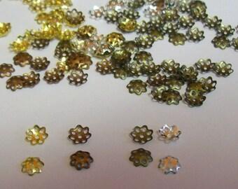 24 Bead Caps 6mm  ... Bead Caps ...  Bead Caps Jewelry Findings