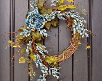 Spring Wreath Summer Wreath Fall Wreath Berry Twig Grapevine Door Wreath Decor Use Year Round