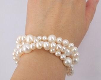 Deirdre - Freshwater Pearl  Bridal Bracelet
