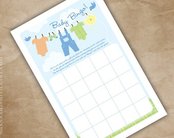 Baby Bingo Baby Shower Game Print Your Own