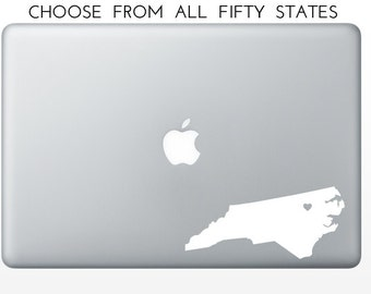 State Love Decal, Oklahoma, Oregon, Pennsylvania, Rhode Island, South Carolina