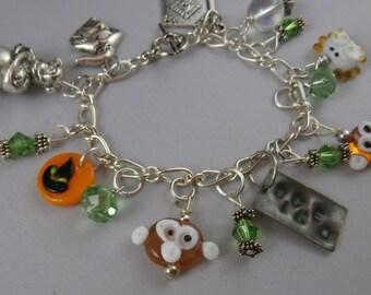 Hand Stamped Wicked Charm Bracelet