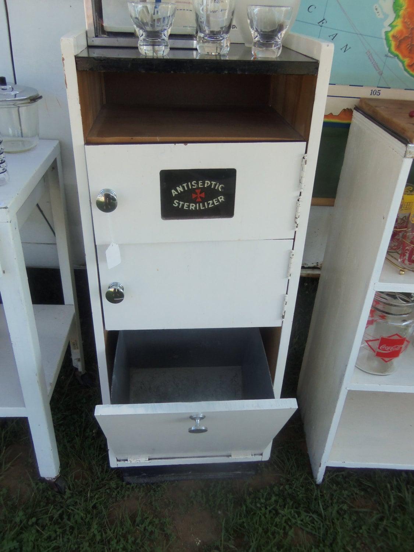 Vintage Barber Shop Sterilizer Cabinet Upcycle Bar By