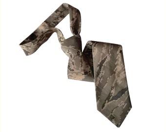 Air Force digital tiger stripe camo necktie