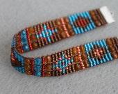 Handmade Artisan Beadwork Bracelet - Sundance Style - Beadweaving - Beadwoven - Southwest