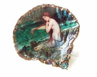 Redhead Mermaid Medium Shell Jewelry Dish