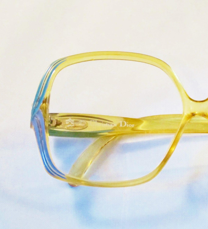 Vintage Dior Eyeglass Frames : Vintage Eyeglasses CHRISTIAN DIOR Turquoise and Purple by ...