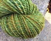 Hand Spun Yarn  Hand Dyed  wool 170 yards