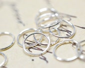 4mm Silver Jump Rings Shiny Silver Jump Rings Open Jump Rings Silver Tone Connectors Hoops Loops Open Rings 50 pcs
