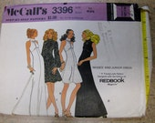 McCALL'S 3396 Step-by-Step Pattern Misses & Junior Dress Redbook Young Look