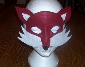 The Fox child's felt mask with reinforced elastic band