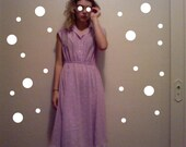 PASTEL PURPLE dress VINTAGE 1950s m