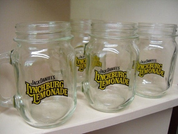 items similar to new old stock jack daniels mugs mason jar. Black Bedroom Furniture Sets. Home Design Ideas