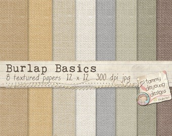 Burlap Digital Papers Shabby Vintage Naturals, Neutrals, for invitations, weddings, greeting cards, scrapbooking, photocards, paper crafts!