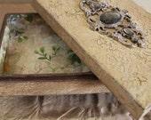 Trinket, jewelry box, wood box, wooden box, vintage jewelry box, trinket box
