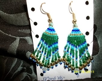 Beautiful Greens n Blues Earrings  D
