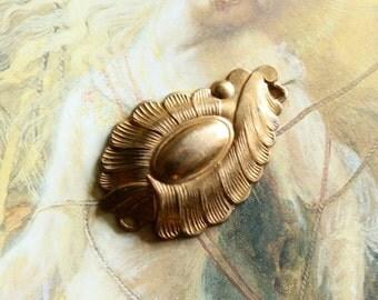 Vintage Lovely Brass Vintage Art Deco Connector Pendant Piece