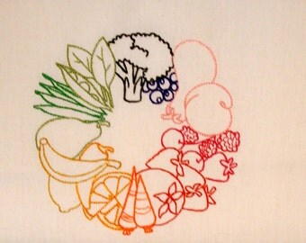 Embroidered Kitchen Towel, Housewares,  Kitchen Towel great for Wedding Showers- House warming Gift