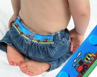 "Kids Belt - Elastic Snap Belt - ""Train"""