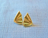 Vintage Earrings Monet Gold Tone Pierced Bridal Party Jewelry Special Occasion Jewellry Gift Idea Birthday Anniversary Christmas Holiday