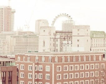 "London photography, travel art print, The London Eye, London art print - ""Above London"""