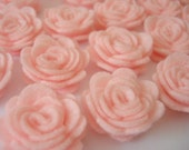 Set of 20 pcs - handmade MINI Felt Rose Flower - baby pink (MRO)