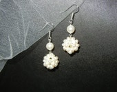 RESERVED FOR SHANNON Snowball Earrings Bridal EarringsWedding Jewelry Earrings,Freshwater Pearls Earrings,Pearl Earrings,