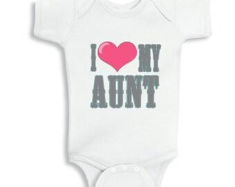 I love My Aunt - personalized baby bodysuit