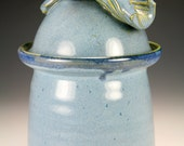 Sale Blue lidded jar item #6