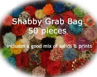 SALE**SALE  50 piece Shabby Flower Grab Bag - WHOLESALE