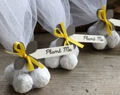 Yellow and Grey Wedding Favours | Unique Wedding Guest Gifts | Seed Bomb Wedding Favours | Eco Friendly Weddings