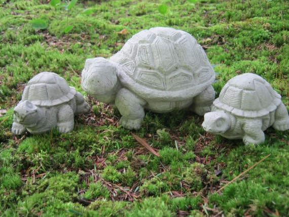 Turtle Family Concrete Garden Statues Turtles for garden
