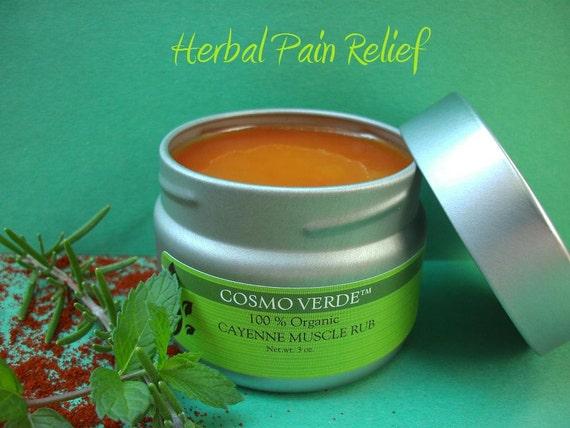 Cayenne Muscle Rub - ORGANIC - Pain Relief - Salve - Natural - Handmade