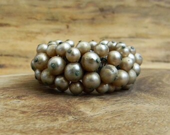 Antique Pearl Stretch Watchband Bracelet JAPAN