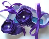 Purple Lace Vintage Baby Shoes Ballerina Slippers