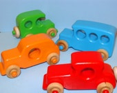 Special Edition Old Timer's - Classic Wooden Toy Cars (set of 4) FULL COLOR