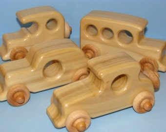 Special Edition Old Timer's - Classic Wooden Toy Cars (set of 4)