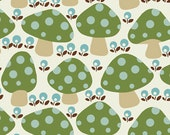 Cotton Novelty Fabric, Lovely Morning, Mushrooms, by Hoodie, by Blank Textiles