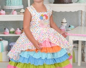 size 4T  birthday party confection dress baby toddler girls