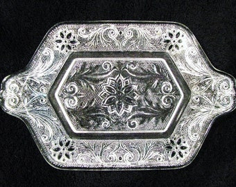 Vintage Indiana Sandwich Glass Sugar and Creamer Tray