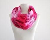 Womens Scarf Long Scarf Cotton Pink Fuchsia Shades