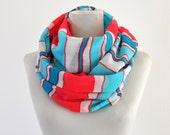 Womens Accessories Scarf Long Cotton Striped Gift for Her Gift under 30