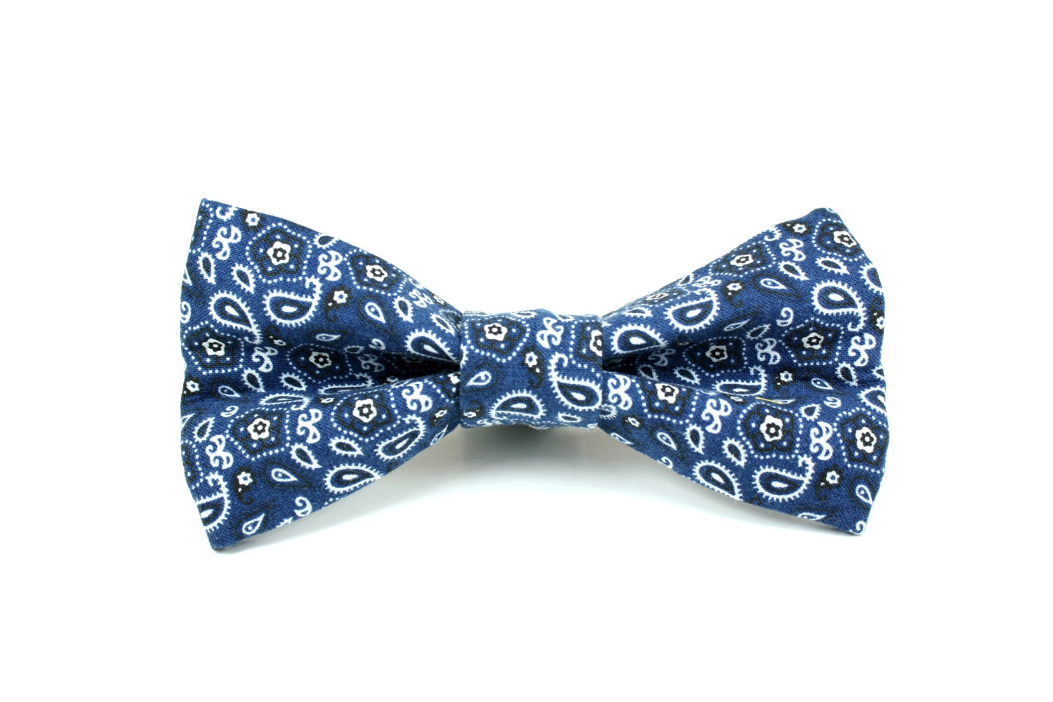 blue bow tie blue bandana removable and adjustable