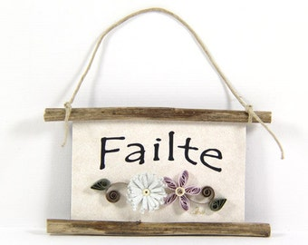 Quilled Magnet 328 - Failte - Irish Welcome, Hostess Gift, Party Favor, Ornament